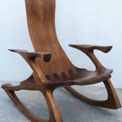 Sam Maloof Rocking Chair Plans Hal Taylor Stackable Resin Wicker Chairs Craftsman Sculpted Walnut For Sale At 1stdibs