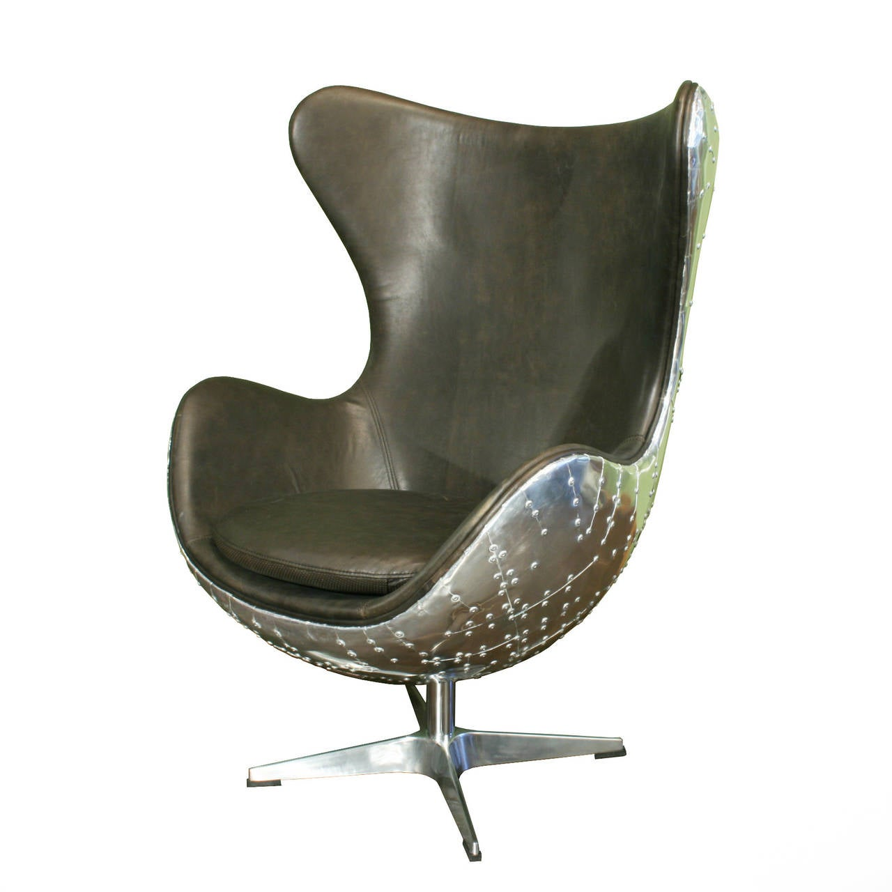 Egg Chairs, Pair of Aviator Armchairs at 1stdibs