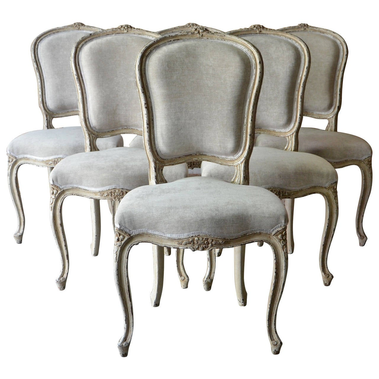 french louis chair ultra comfort lift chairs set of six xv style at 1stdibs