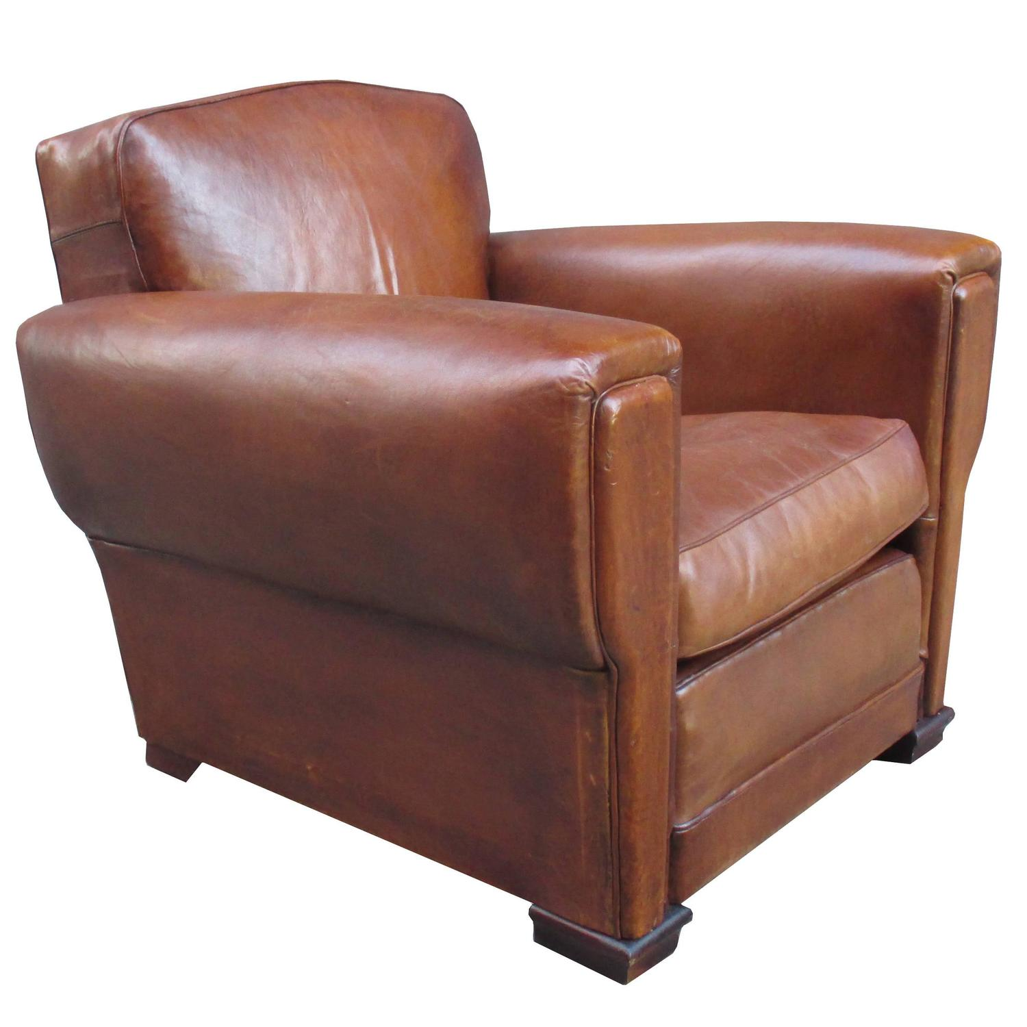 art deco club chairs leather rocking chair and stool pair of for sale at 1stdibs