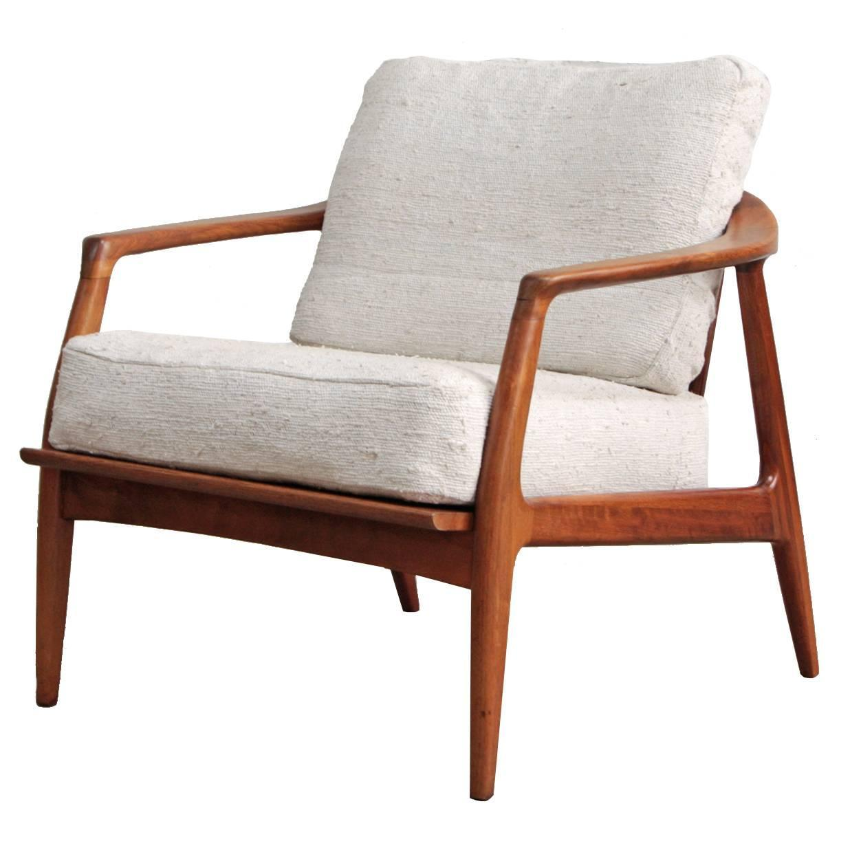milo baughman chair office mechanism teak lounge at 1stdibs