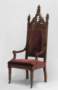 19th c. English Gothic Revival Armchair For Sale at 1stdibs