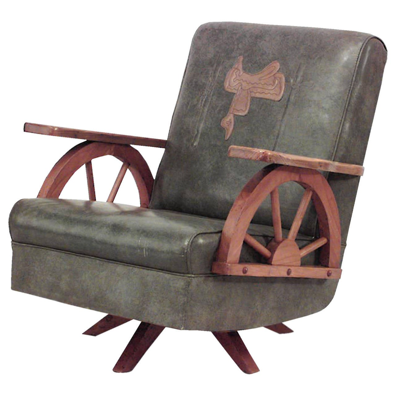 wagon wheel chair backyard swing 1940 39s american western easy at 1stdibs