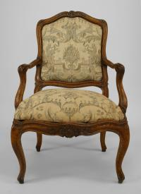 Set of 10 French Louis XV Style Side Chairs with Fortuny ...