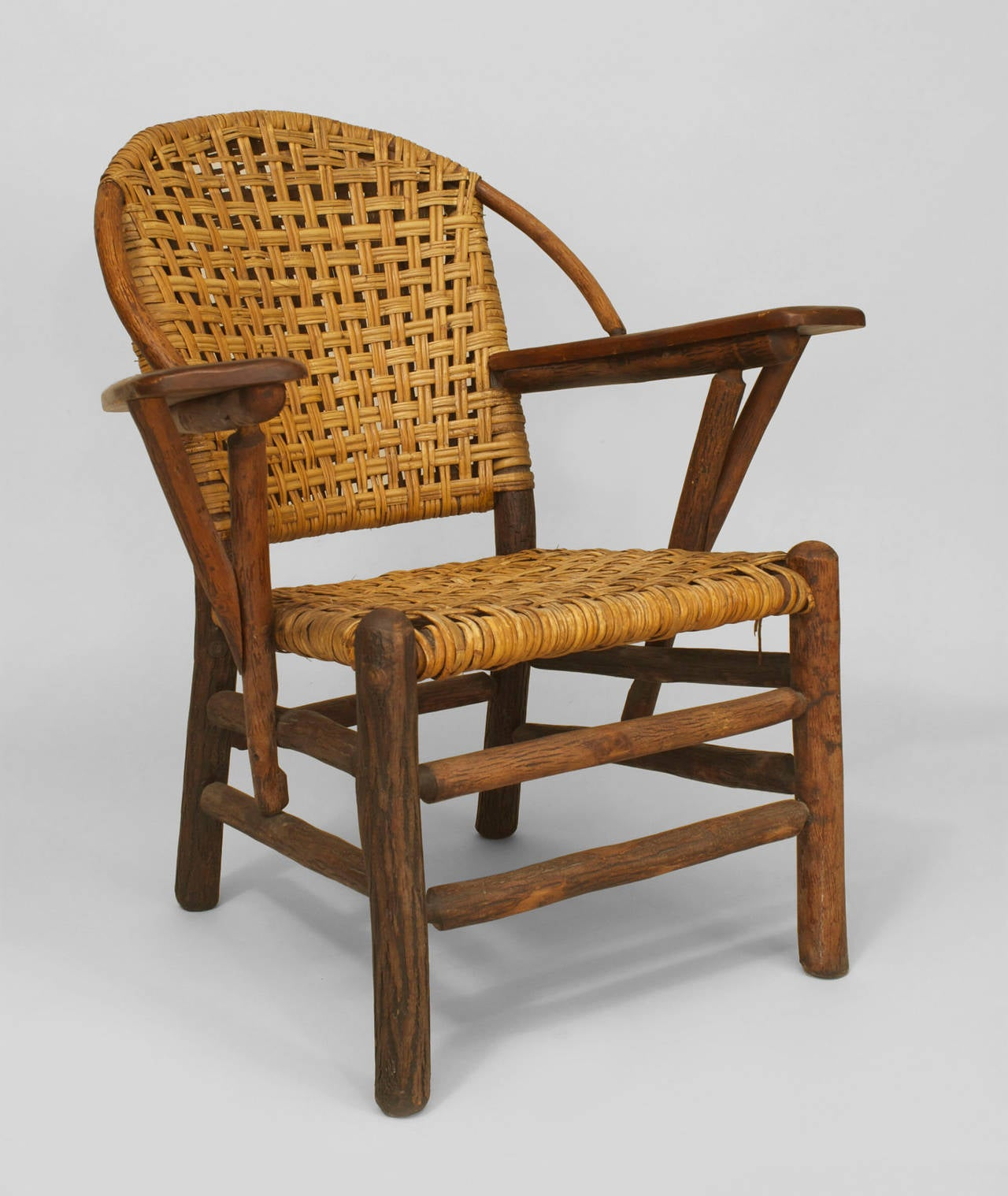 hickory chair co bed bath and beyond chairs folding pair of 20th c american old woven armchairs