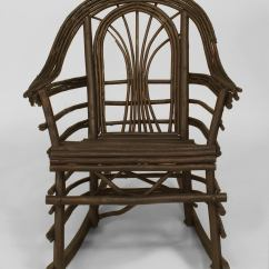 Adirondack Chairs For Sale Toddler Chair Booster Seat 20th C American Style Willow Twig Rocking
