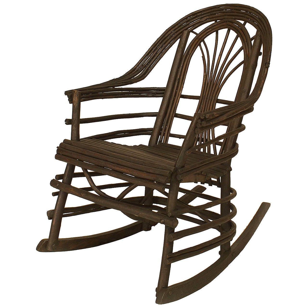 rocking chairs for sale french woven cafe 20th c american adirondack style willow twig