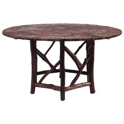 Adirondack Style Dining Chairs Wooden Rocker Chair American Round Twig Table At 1stdibs