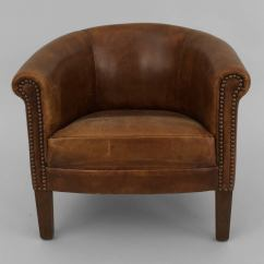Circular Chairs For Sale Egg Desk Chair English Georgian Style Leather Round Back Child 39s Club