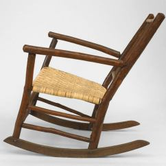 Rustic Rocking Chair Ergonomic Stokke Varier Thatsit Early 20th Century American Old Hickory