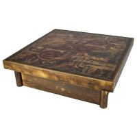 Bernard Rohne for Mastercraft Bronze Coffee Table, Titled ...