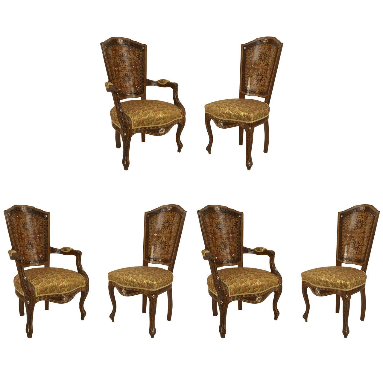 set of six dining chairs for sale office chair kohls middle eastern inlaid at