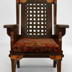 American Furniture Chairs High Back Contemporary Late 19th Century Mission Wing Chair By Dexter