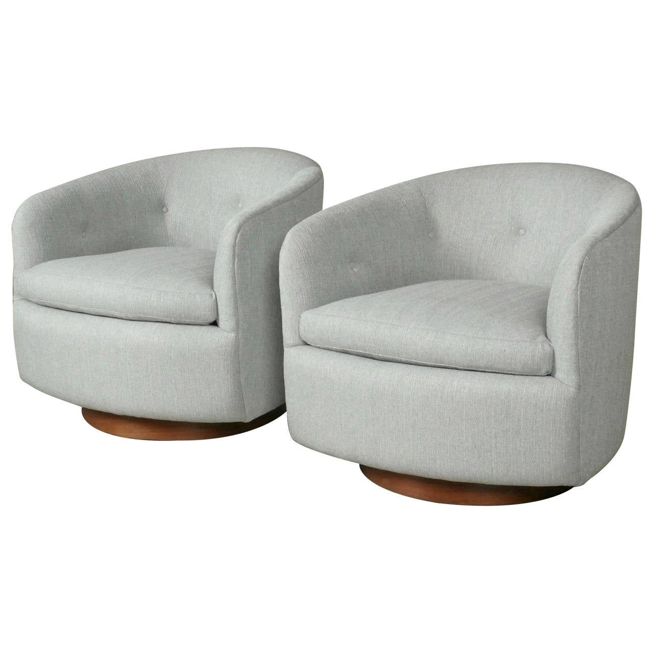 swivel tub chairs hanging chair spring pair of rocking by milo baughman circa
