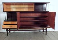 Mid-Century Display Cabinet with Stand For Sale at 1stdibs