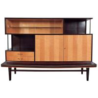 Mid-Century Display Cabinet with Stand at 1stdibs