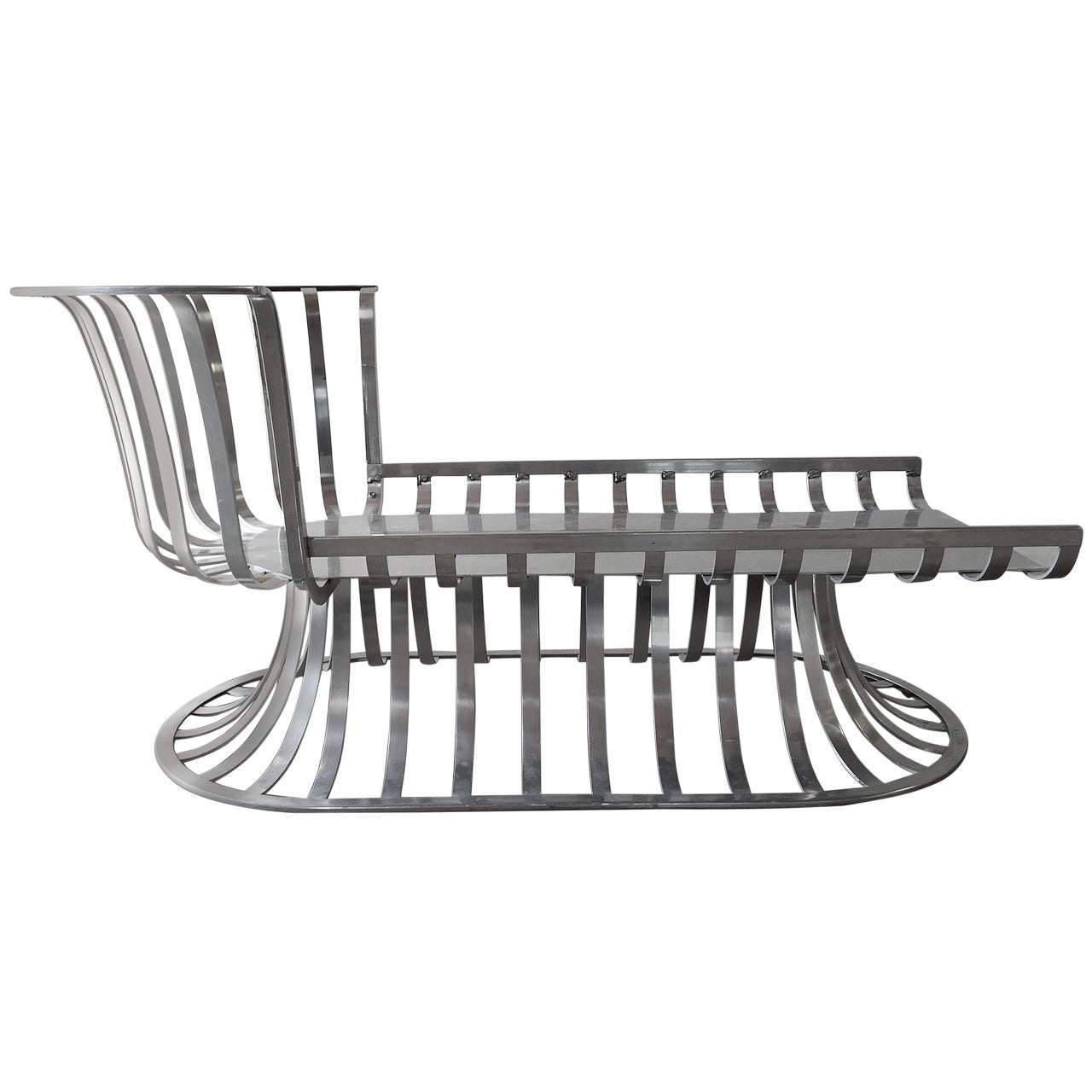 russell woodard deco style aluminum outdoor patio chaise lounge