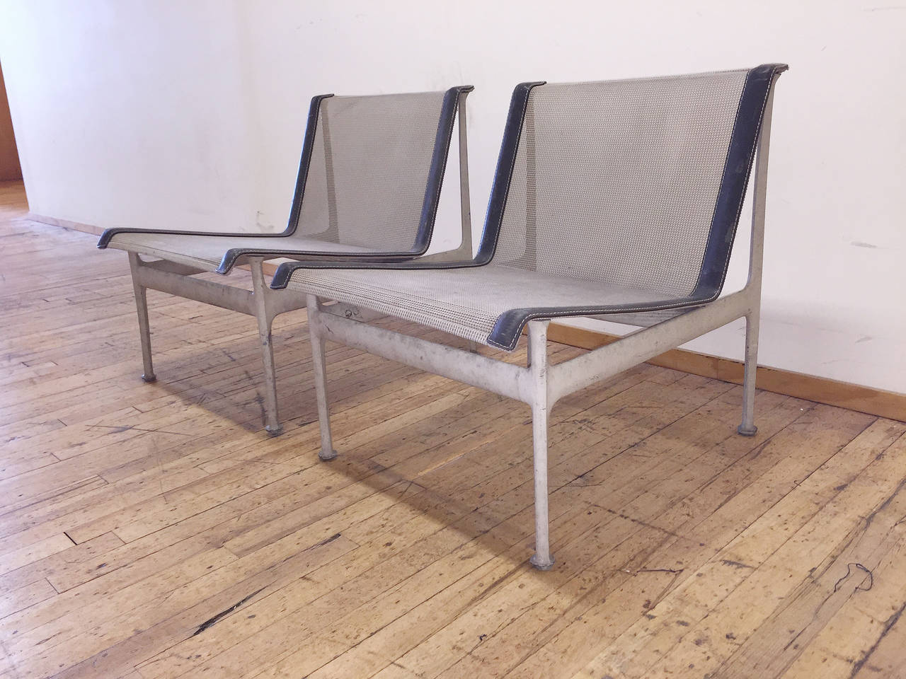 low outdoor chairs used folding tables and for sale original vintage richard schultz pair of lounge
