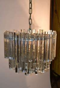 Unusual Multi Tiered Venini Crystal Chandelier For Sale at ...