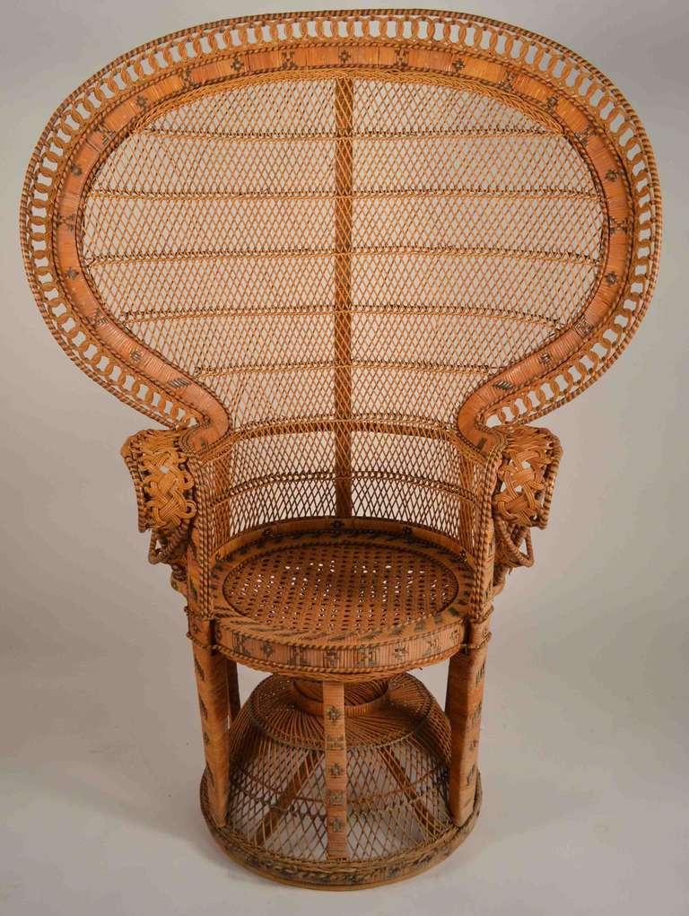 british colonial chair stool history rattan peacock at 1stdibs
