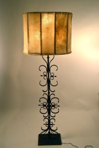 Wrought Iron Spanish Gothic Style Floor Lamp For Sale at ...