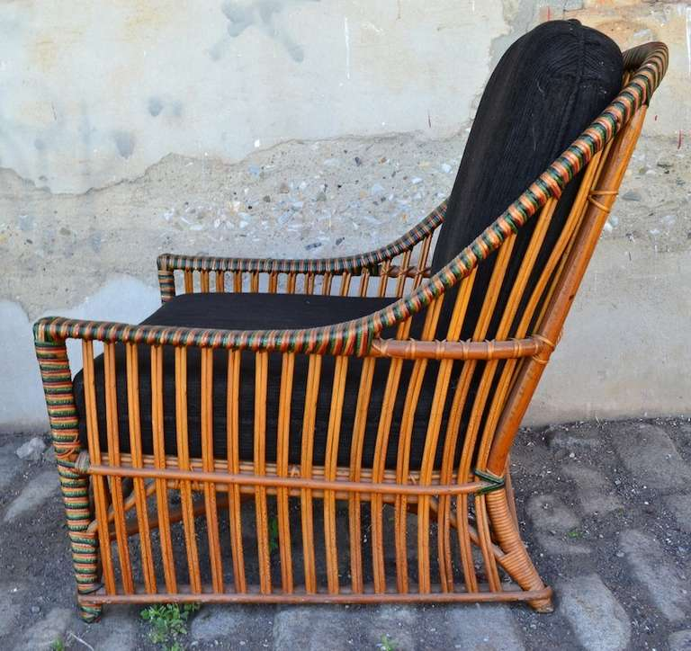 1930 cane back sofa site colchoes ficks reed wicker club chair at 1stdibs