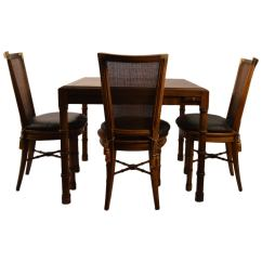 Card Table And Chairs Hill Chair With Four By Heritage Henredon At 1stdibs