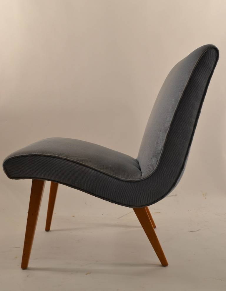 Russel Wright Low Armless Lounge Chair Conant Ball