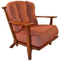 Cushman Maple Lounge Chair at 1stdibs