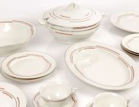 1930s Czechkoslovakia Art Deco Dinnerware Set / Service at ...
