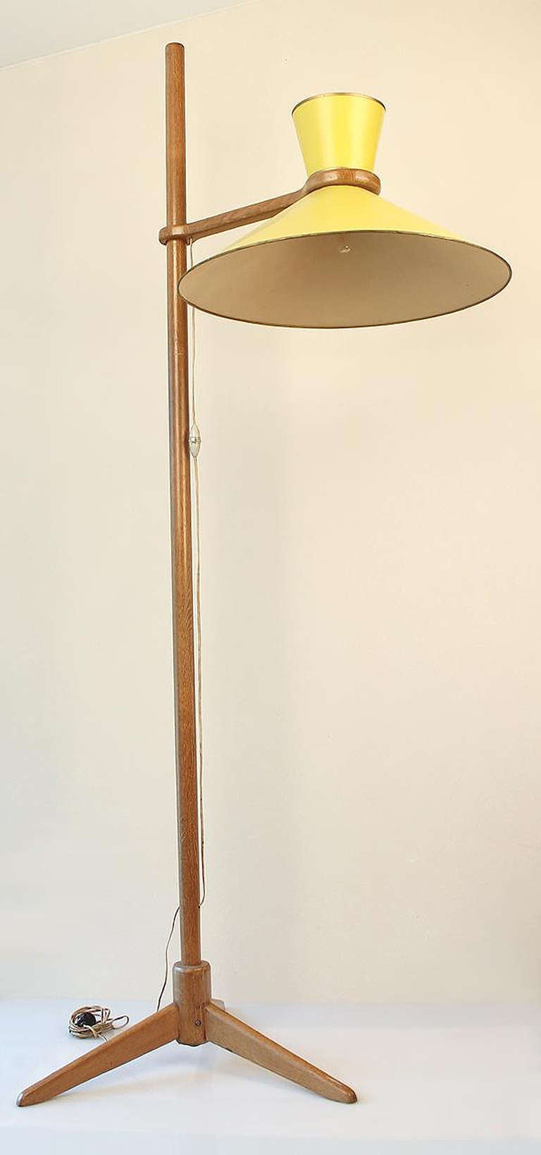 1950 Jacques Hauville Floor Lamp Luminaire 800 For Sale at 1stdibs