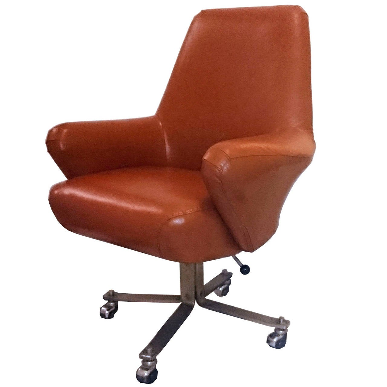 office chair very red glider rare swivel desk by gianni moscatelli for