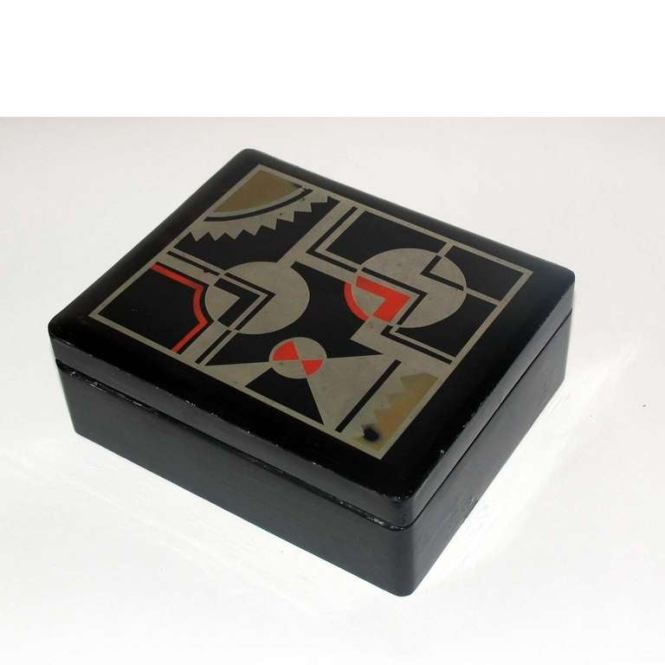 Souvnear Art Jewelry Box In Wood And Red Velvet Handmade Decorative Trinket Traditional