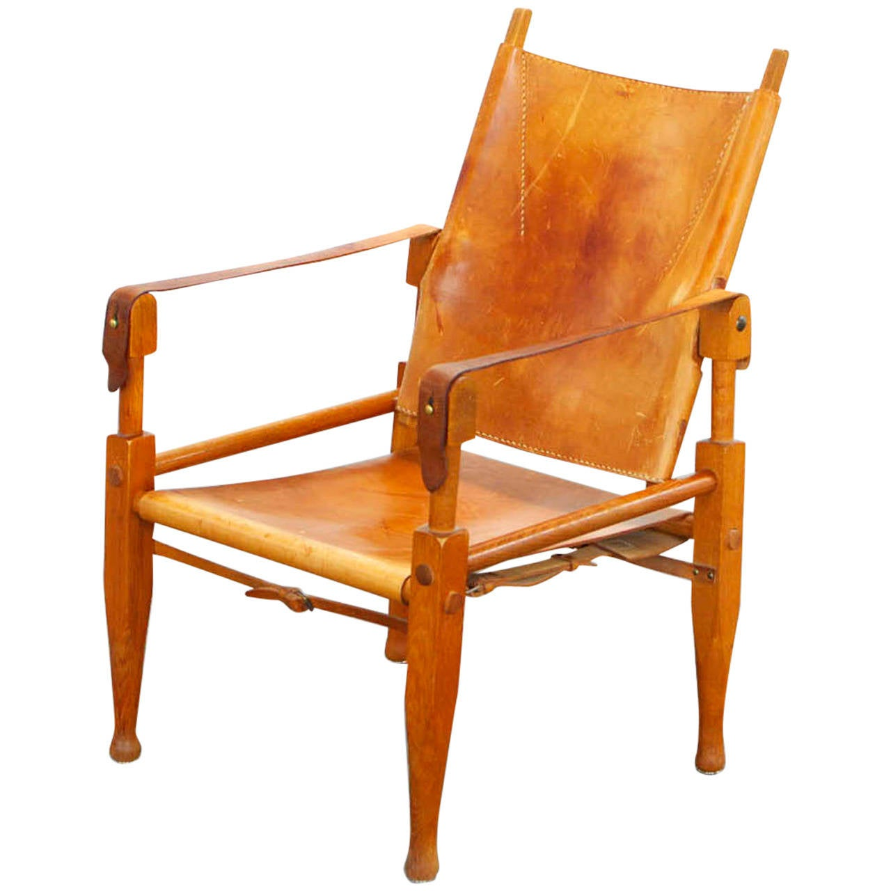 Safari Chair Wilhelm Kienzle Leather Safari Chair For Wohnbedarf Zurich