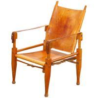 Wilhelm Kienzle Leather Safari Chair for Wohnbedarf Zurich ...