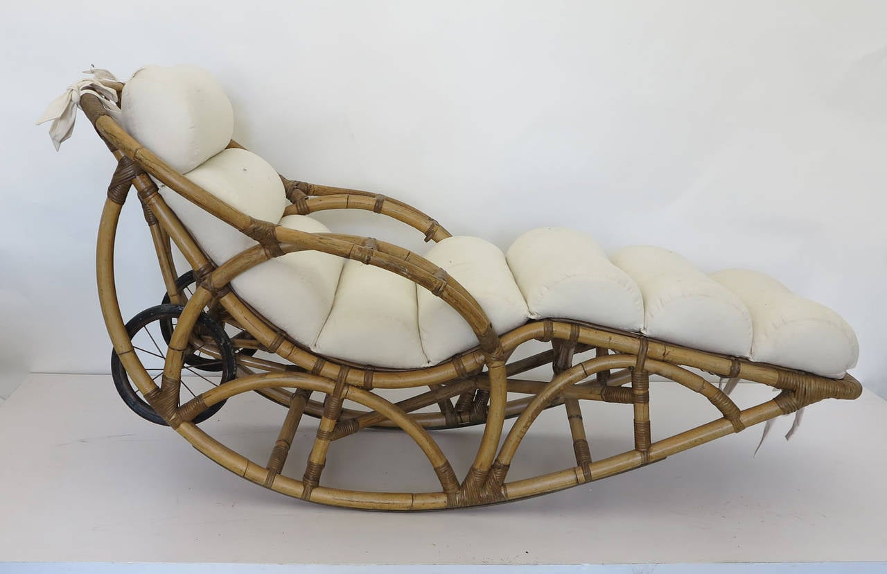 vintage wicker rocking chair hickory daybeds rattan chaise lounge circa 1930s at