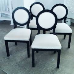 Black White Dining Chair Lowes Adirondack Chairs Wood Set Of Four Hollywood Regency And Circle Back