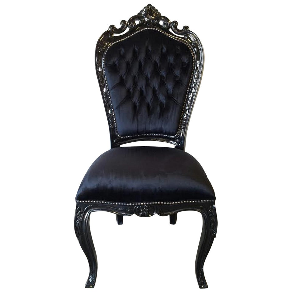 dining chair upholstery stryker 5050 stretcher parts french louis xv rococo style desk in black at 1stdibs