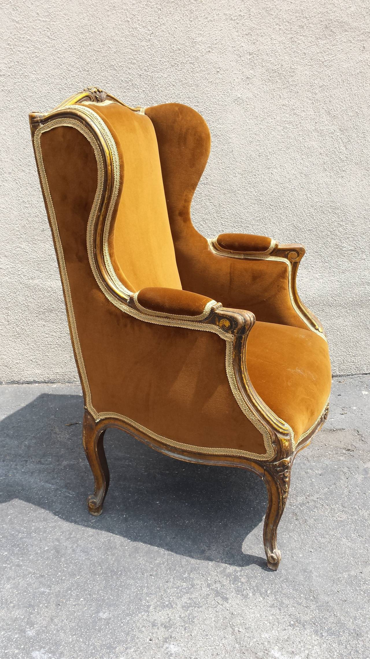 bergere chairs for sale t4 spa chair manual french louis xv style armchair