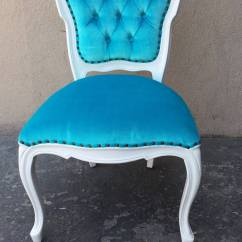 Turquoise Side Chair Swing Zara Song Set Of Six French Louis Xv Style Chairs In