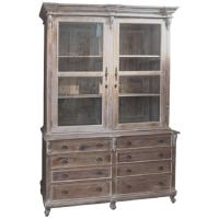 French Country Style Linen Press Cabinet Cupboard 8 Foot ...
