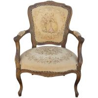 French Chair, Louis XV Style Armchair at 1stdibs