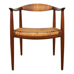 Hans Wegner The Chair High Back Covers For Sale Quotthe Quot In Teak And Cane At 1stdibs