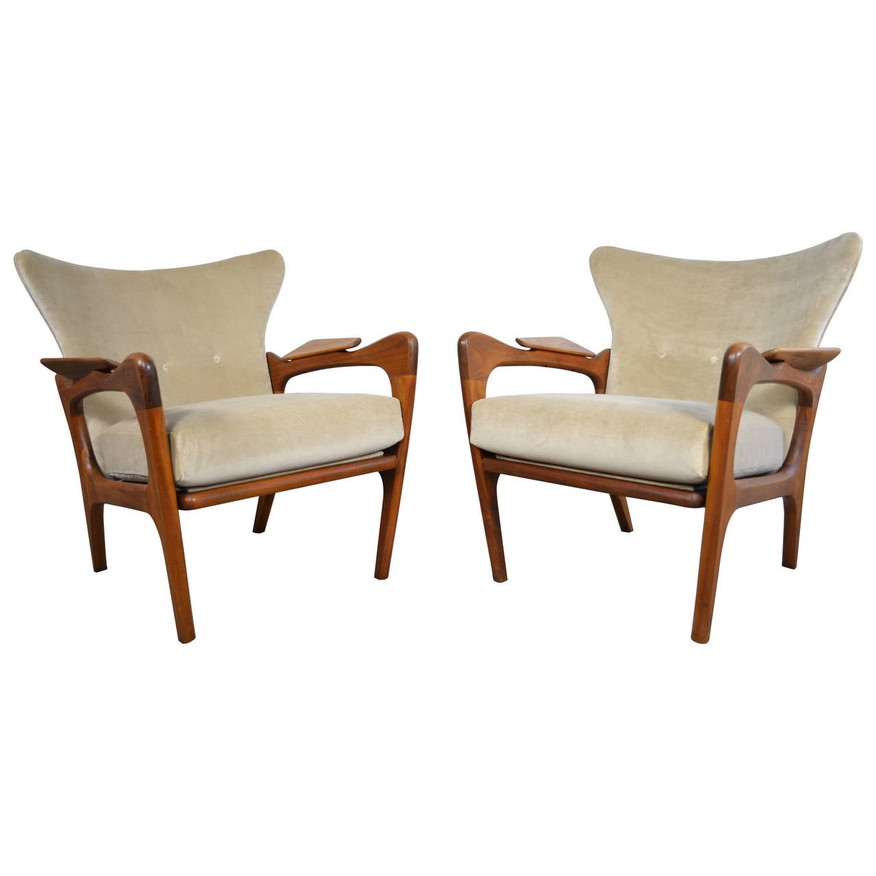 adrian pearsall lounge chair modtot high sculptural pair of wingback chairs
