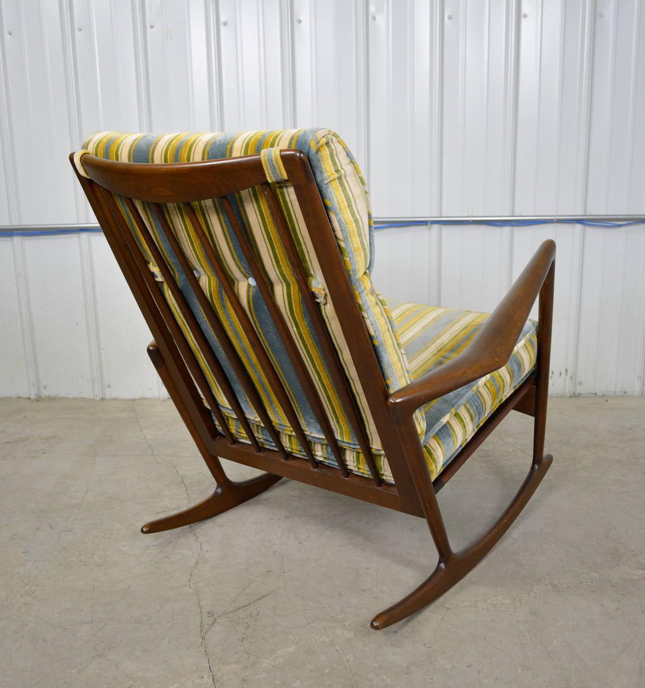 danish modern rocking chair paris cafe table and chairs ib kofod larsen at 1stdibs