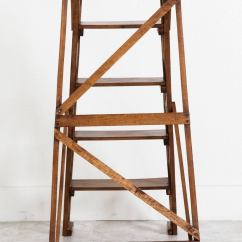Library Chair Ladder Plans Gray And White Accent Chairs Handmade French Folding At 1stdibs