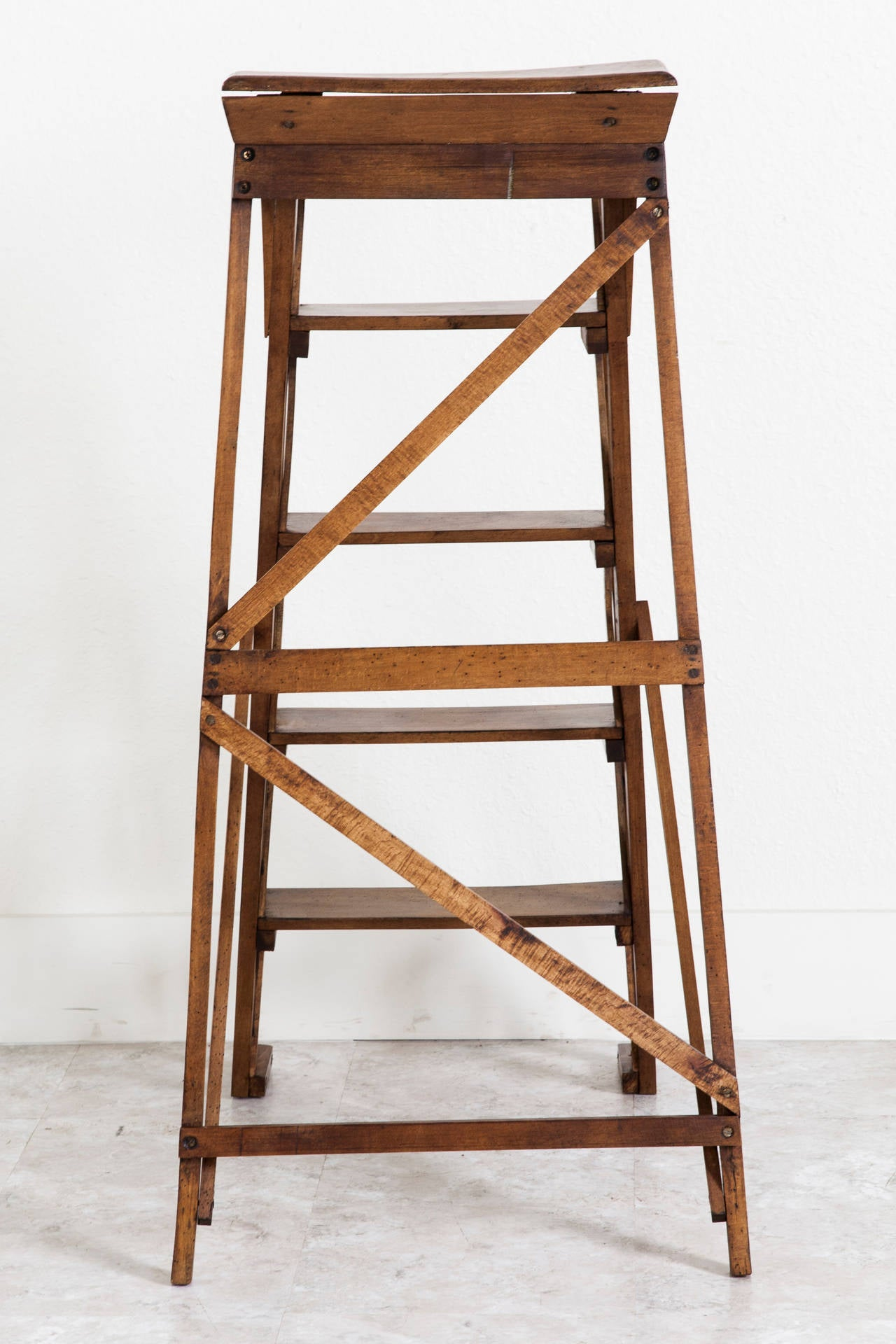 Library Ladder Chair Handmade French Folding Library Ladder At 1stdibs