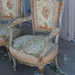 Childs Rattan Chair Patio Pads Cheap Aubusson Tapestry Salon Set At 1stdibs