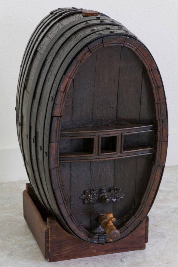 19th Century French Calvados Wine Barrel In Solid Oak