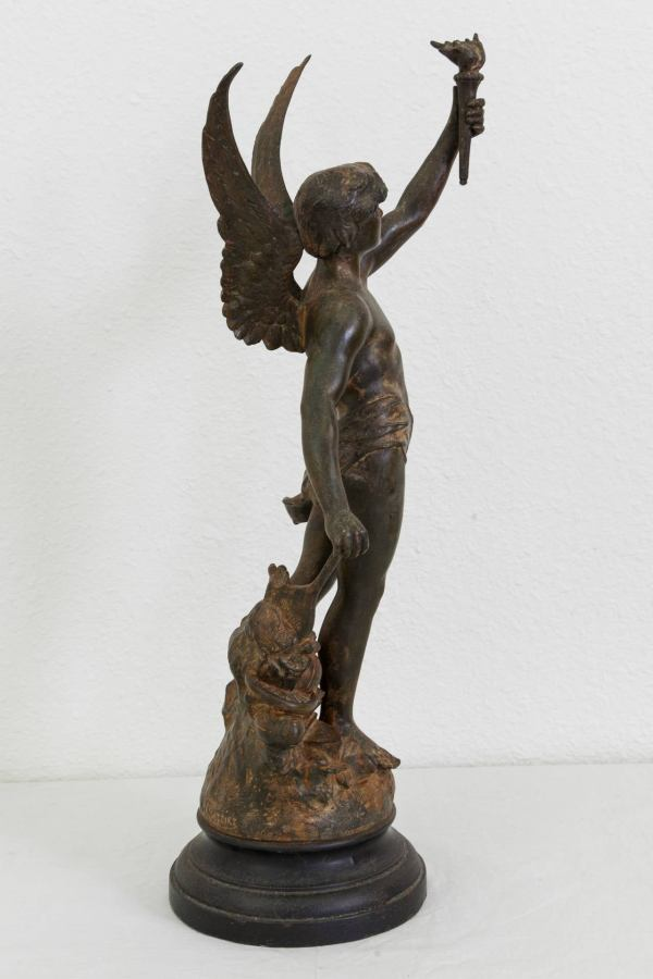 Early 20th Century French Sculpture Of Le Nie Des Sports